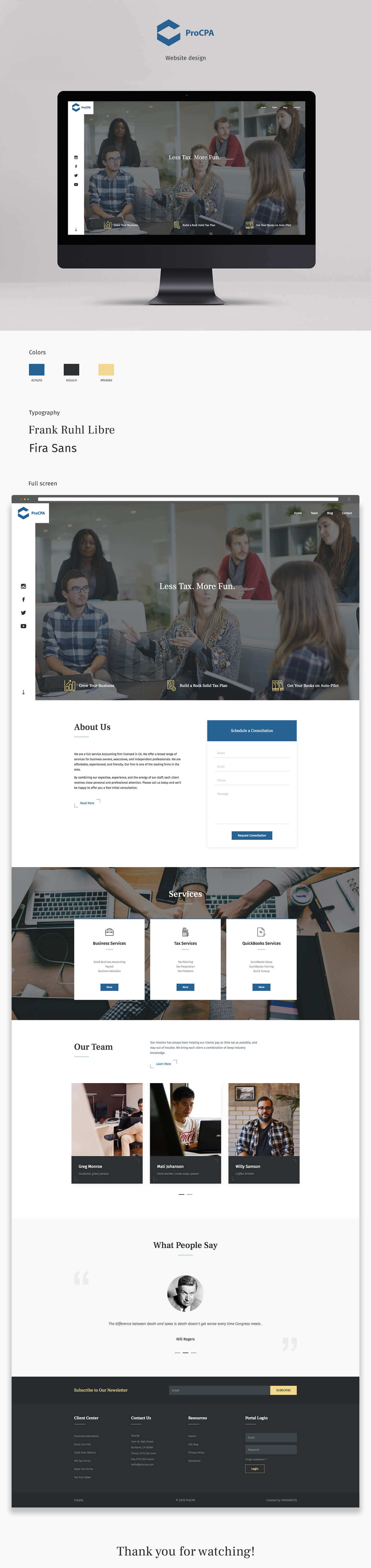 PROCPA website template design