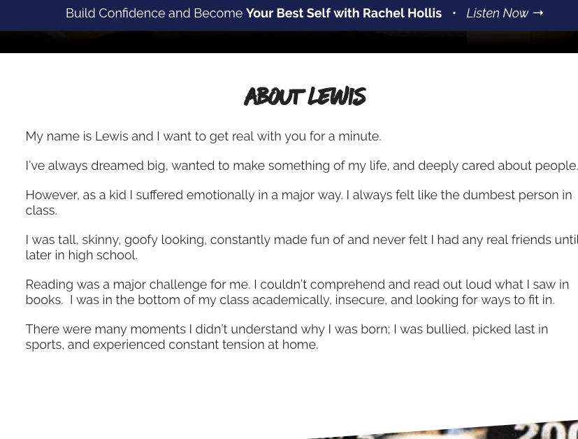 Lewis Howes Personal Story