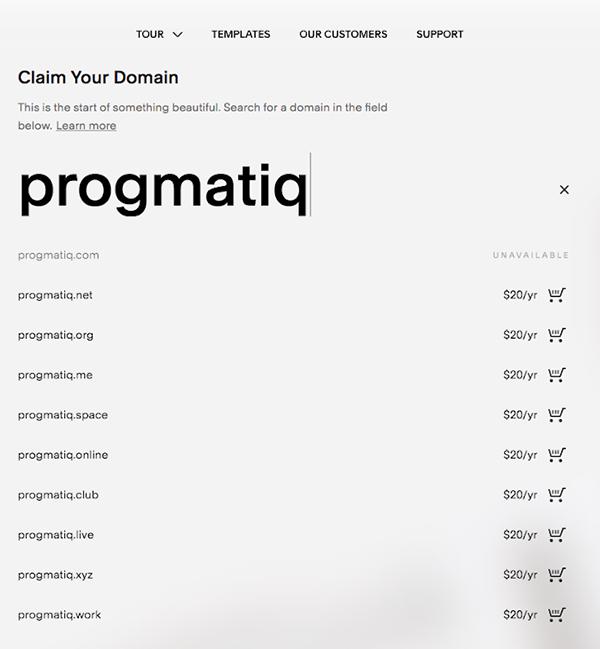 squarespace.com domain pricing